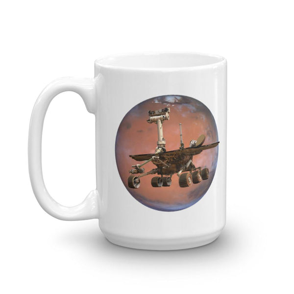 Mars Opportunity Rover Mug - Oppy Tribute-Faculty Loungers