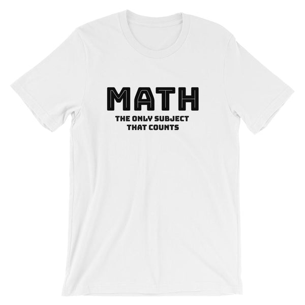Math Pun Shirt for Math Teachers Short-Sleeve Unisex T-Shirt-Faculty Loungers