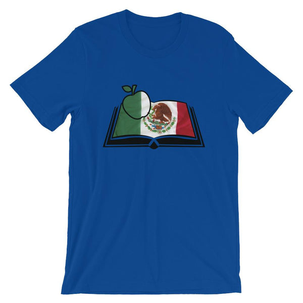 Mexican Flag Book Shirt for Spanish Teachers-Faculty Loungers