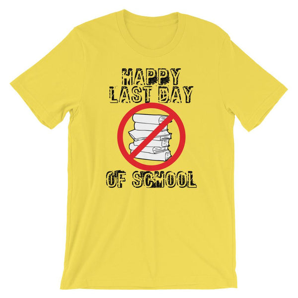 No More Books Happy Last Day Tee-Faculty Loungers