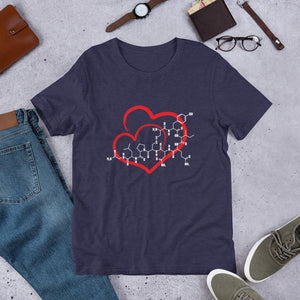 Oxytocin Love Molecule Shirt for Science Teachers-Faculty Loungers