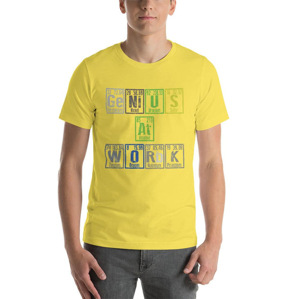 Periodic Table Genius A Work T-Shirt-Faculty Loungers