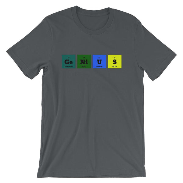 Periodic Table Genius Elements T-shirt for Science Teachers