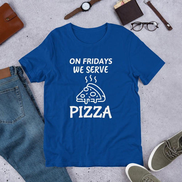 Pizza Fridays! Lunch Lady Shirt-Faculty Loungers