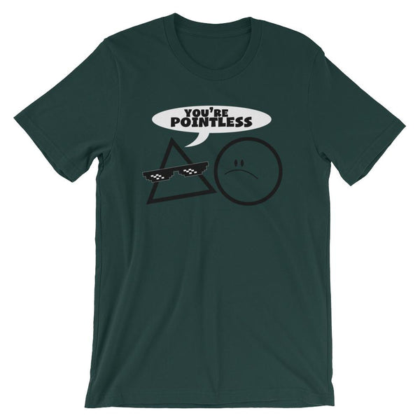 Pointless Geometry Humor T-Shirt-Faculty Loungers