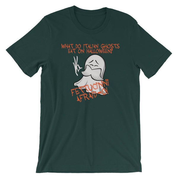 Punny Halloween Shirt - Italian Ghosts Joke-Tee Shirt-Faculty Loungers Gifts for Teachers