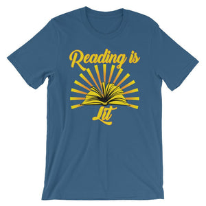Reading is Lit - Shirt for Reading Lovers-Faculty Loungers