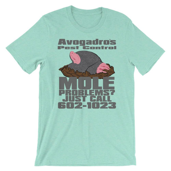 Science Nerd Avogadro's Mole Shirt-Faculty Loungers