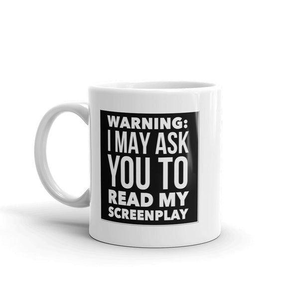Screenwriter Coffee Mug - Script Warning-Faculty Loungers