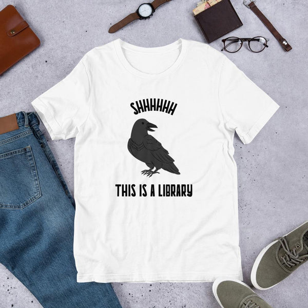 Shhhhh This is a Library - Tshirt (Unisex)-Faculty Loungers