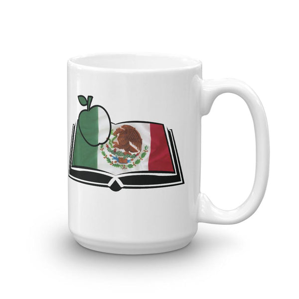 Spanish Teacher Gift - Mexican Flag Book-Faculty Loungers
