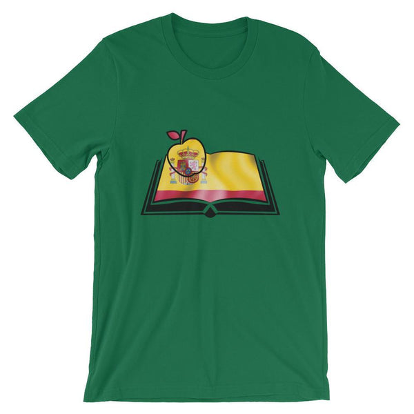 Book with Spain's Flag - Spanish Teacher Shirt-Faculty Loungers