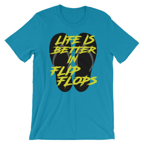Spring Break T-Shirt - Life is Better in Flip Flops-Faculty Loungers