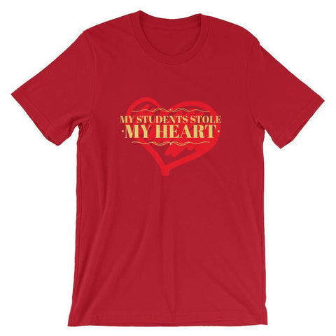 Teacher Valentines Day Tshirt - Students Stole My Heart-Faculty Loungers
