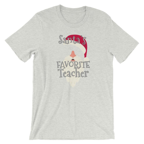 Teachers Christmas Shirt - Santa's Favorite Teacher-Faculty Loungers