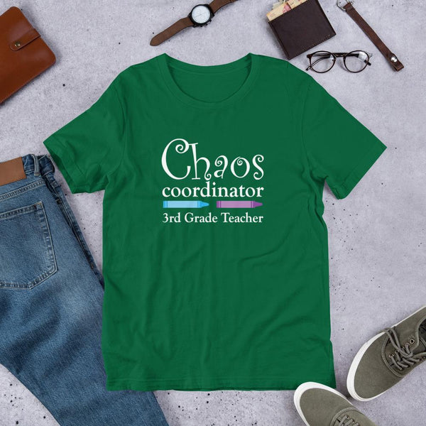 Third Grade Teacher Shirt - Chaos Coordinator-Tee Shirt-Faculty Loungers Gifts for Teachers