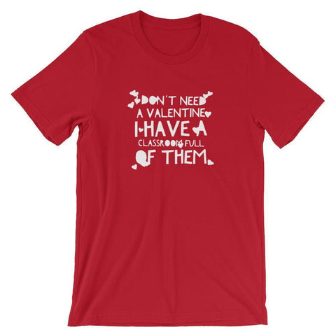 Valentine's Day T Shirt for Teachers-Tee Shirt-Faculty Loungers Gifts for Teachers