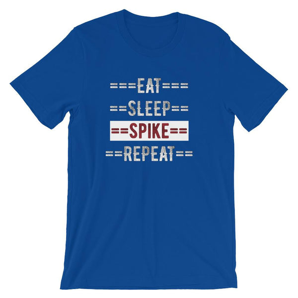 Volleyball Coach Short-Sleeve Gift T-Shirt - Eat Sleep Spike Repeat-Faculty Loungers
