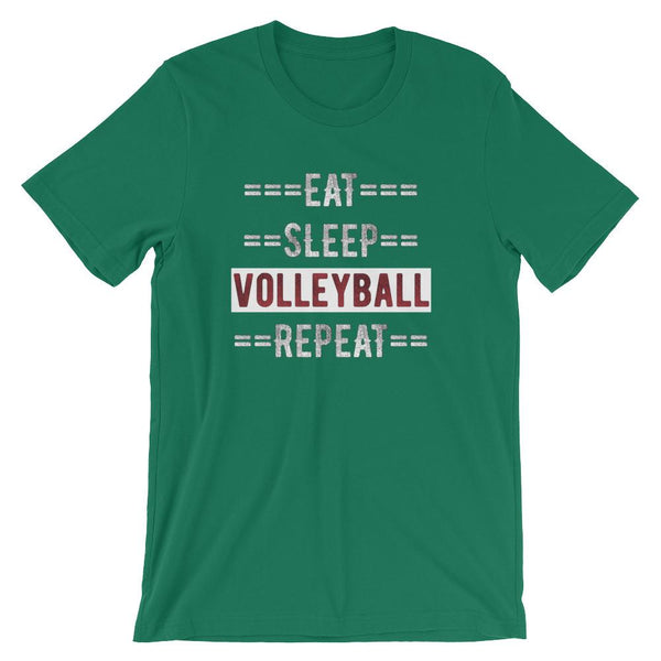 Volleyball Coach Short-Sleeve Gift T-Shirt - Eat Sleep Volleyball Repeat-Faculty Loungers