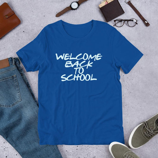 Welcome Back to School Minimalist Text Shirt for Teachers-Faculty Loungers