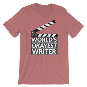 World's Okayest Writer Tee Shirt-Faculty Loungers