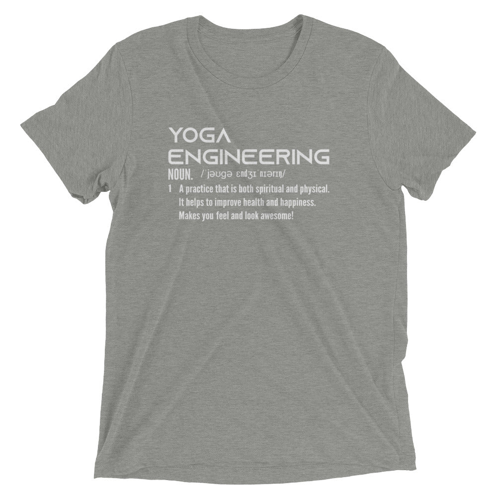 689a8448a Yoga Engineering Quotes Funny, Engineering T shirts Funny, Yoga Shirts  Triblend Short sleeve t. Hover to zoom