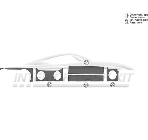 Interior Dash Kit-Ford Mustang 2005-2009 LHD Dash Trim Kit (Upgrade Kit, 2DR, Upper Dash Trim, 5 Pcs)