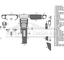 Interior Dash Kit-Ford Mustang 2013-2014 LHD Dash Trim Kit (Medium Kit, 2DR, Fits Without Navigation, 32 Pcs)