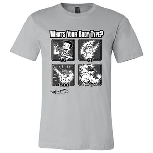 What's Your Body Type Tee, Black Logo-FREE SHIPPING
