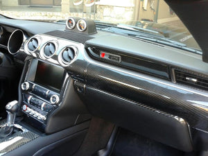 Interior Dash Kit-Ford Mustang 2015-UP LHD Dash Trim Kit (Full Kit, 2 DR, Fits Dash Panel With 3 Vents, 48 Pcs)