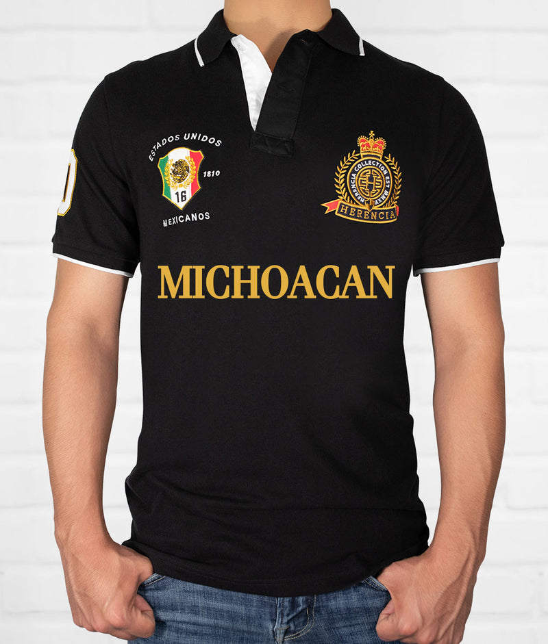 Michoacan Men's Short Sleeve Polo
