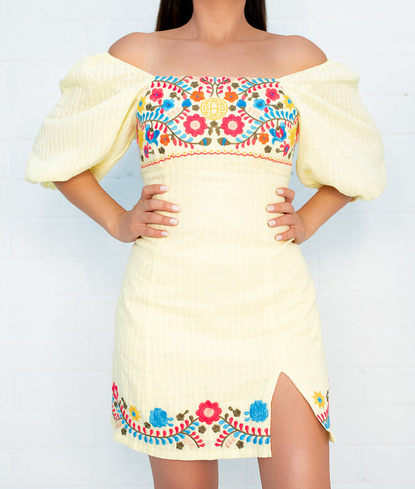 Esperanzita Embroidered Dress