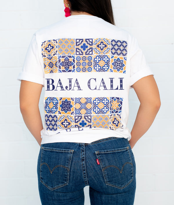 Baja California Hacienda Short Sleeve Pocket Tee