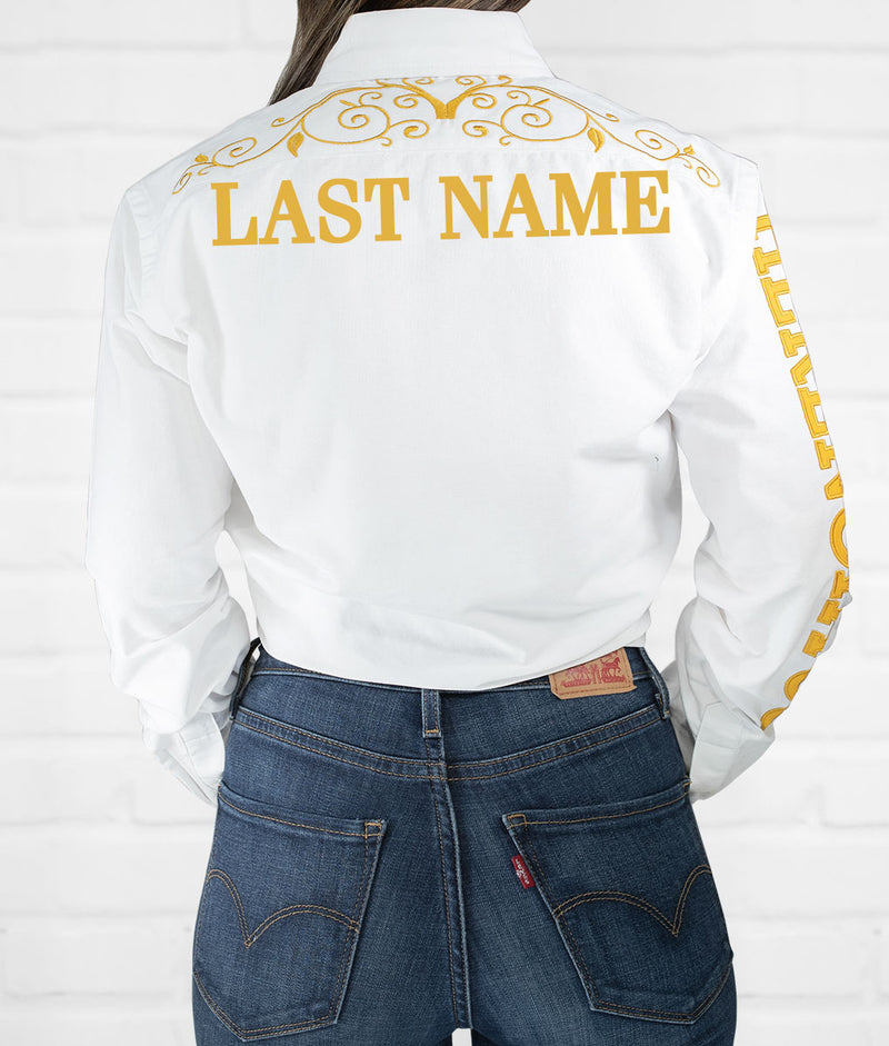 Last Name Women's Jaripeo Button-Down