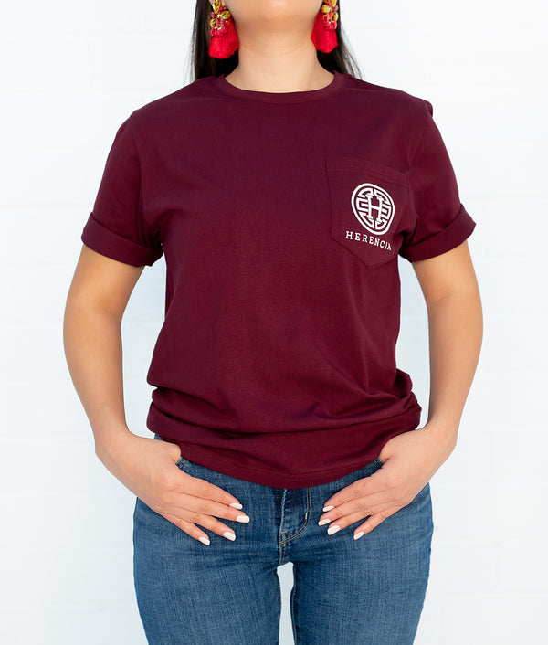 State Western Short Sleeve Pocket Tee (MAROON)