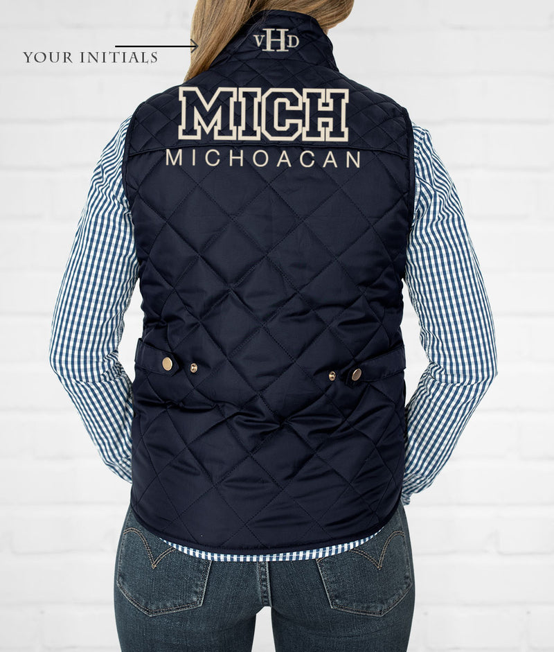 Michoacan Women's Quilted Vest