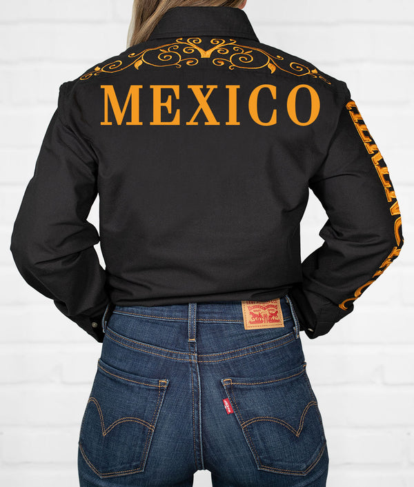 Mexico Women's Jaripeo Button-Down