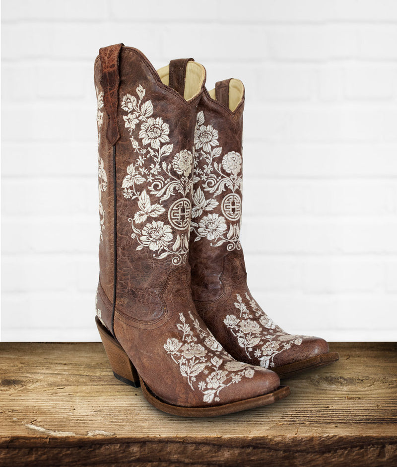 Ximena Embroidered Western Boot