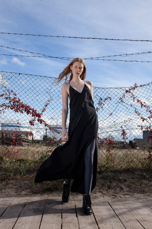 Maxi length slip dress