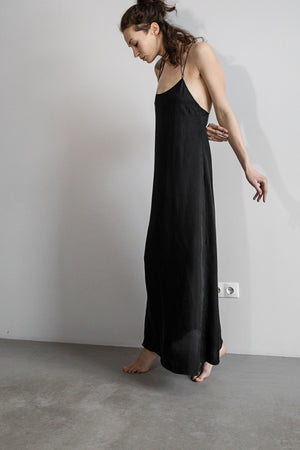Loose fit low back maxi length slip dress