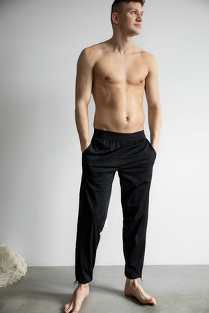 Casual stretchy pants man black