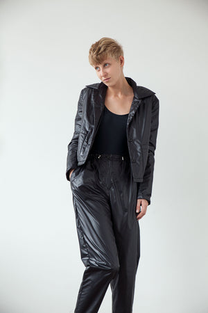 Lightweight button up jacket black