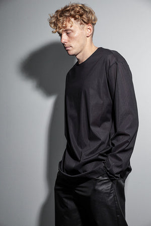 Loose fit long sleeve t-shirt black