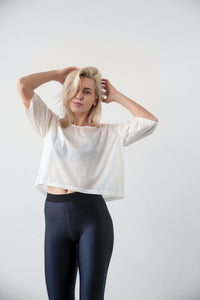 Loose fit cropped t-shirt