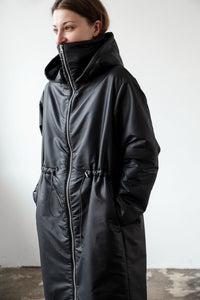 Knee length puffer coat