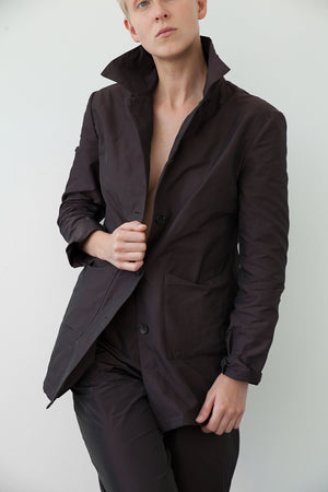 Brown button up blazer