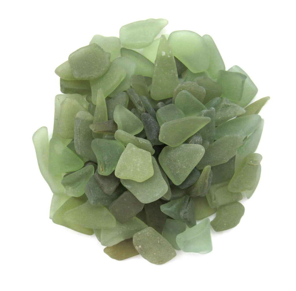 Sage Green Sea Glass Jewelry - Custom and Ready to Ship