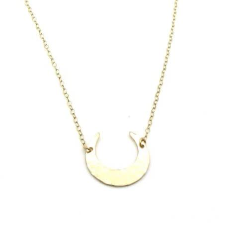 Gold Moon | Necklace-Hammered-Ingrid Caduri Jewelry