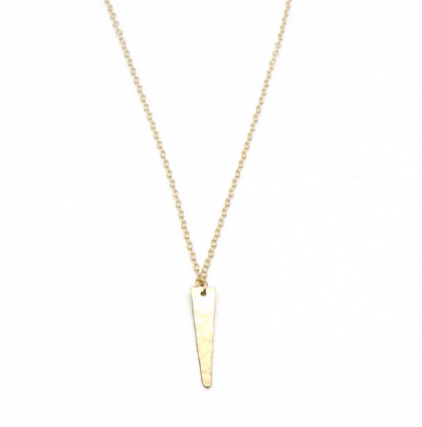 dainty gold jewelry, layerable spike necklace