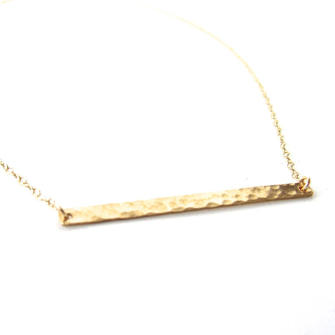 dainty gold bar necklace